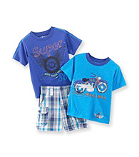 Nannette® Baby Boys' Blue 3-pc. Moto Set