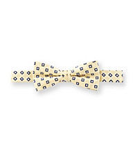 Statements Boys' Yellow/Navy Small Checker Bowtie