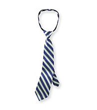 Statements Boys' Green/Navy Nautical Striped Zip Tie