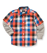 OshKosh B'Gosh® Boys' 2T-7 Orange Plaid Woven