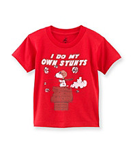 Peanuts® Boys' 2T-4T Red Short Sleeve Snoopy Stunt Tee