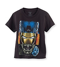 Marvel® Boys' 4-7 Black Short Sleeve Avenger Tee