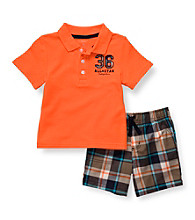 Carter's® Boys' 2T-4T Orange 2-pc. Polo Shortset