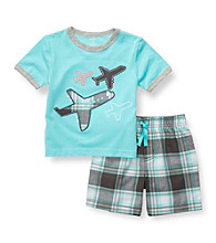 Carter's® Boys' 2T-4T Blue 2-pc. Airplanes Shortset