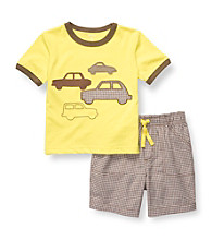 Carter's® Boys' 2T-4T Lime 2-pc. Cars Shortset