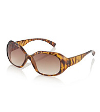 Relativity® Tortoise Plastic Medium Oval Sunglasses