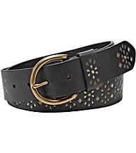 Fossil® Painted Embossed Jean Belt