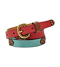 Fossil®® Colorblock Jean Belt
