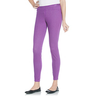 HUE® Passion Purple Denim Leggings