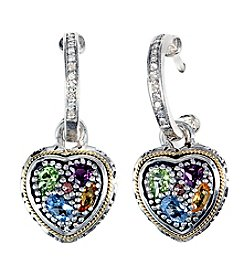 Effy® Sterling Silver Diamond and Semi-Precious Earrings