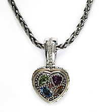 Effy® Sterling Silver Diamond and Semi-Precious Pendant Necklace
