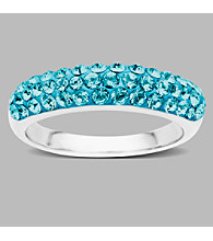 Impressions® Sterling Silver and Blue Crystal Ring