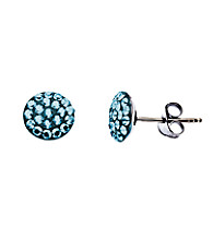 Impressions® Sterling Silver and Blue Crystal Earrings