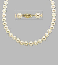 14K Yellow Gold and Freshwater Pearl Strand Necklace