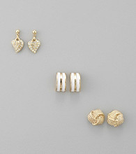 Guess Goldtone Trio Earring Set