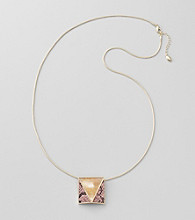 GUESS Goldtone Snakeskin Pendant Necklace