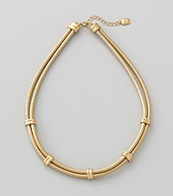 Lauren Ralph Lauren Two Row Matte 14K Gold Plated Chain Necklace