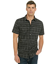 Calvin Klein Men's Short Sleeve Woven Windowpane Shirt
