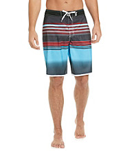 Mambo® Men's Hip Stripe Dolphin Hem Board Short