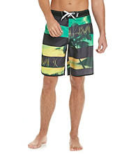 Mambo® Men's Scenic Stripe Dolphin Hem Board Short