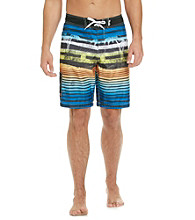 Mambo® Men's Blue/Orange Stripe Side Pocket Board Short