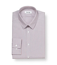 Calvin Klein Men's Coral Reef Stripe Steel Dress Shirt