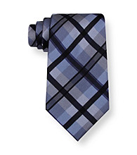 Calvin Klein Men's Big & Tall Black Pavo Wardrobe Tie