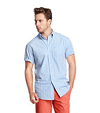 Izod® Men's Short Sleeve Cotton Twill Plaid Woven