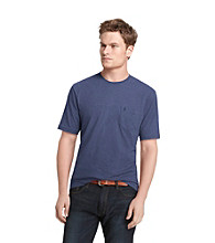 Izod® Men's Navy Stitch Short Sleeve Solid Jersey Tee