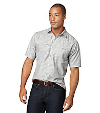 Van Heusen® Men's Short Sleeve Mini Check Traveler Woven