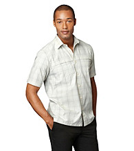Van Heusen® Men's Short Sleeve Windowpane Traveler Woven
