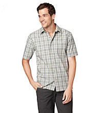 Bass® Men's Short Sleeve Corded Plaid Woven