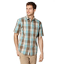 Bass® Men's Porcelain Short Sleeve Corded Poplin Plaid Woven