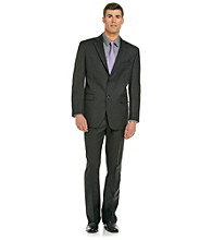 Jones New York® Men's Athletic-Fit Black Solid Suit