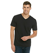 DKNY Jeans® Men's Short Sleeve Polished Jersey V-Neck Tee