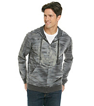 Calvin Klein Jeans® Men's Washed Black Skull Screenprint Full Zip with Hood