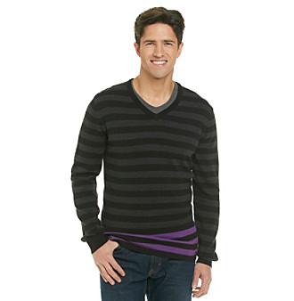 Calvin Klein Jeans® Men's Striped Crewneck Sweater with Color Pop