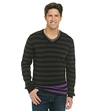 Calvin Klein Jeans® Men's Striped Crewneck Sweater with Color Pop