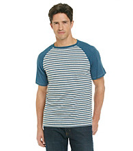 Calvin Klein Jeans® Men's Egyptian Glazed Blue Striped Baseball Tee
