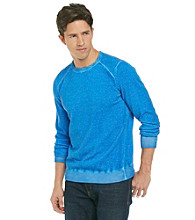 Calvin Klein Jeans® Men's Sonic Blue Crewneck Yarn Dyed Acid Wash Sweater