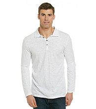 DKNY Jeans® Men's Long Sleeve Slub Knit Polo
