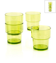 LivingQuarters Samba Lime 4-Piece Stackable Cup Set