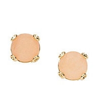 Fossil® Coral & Goldtone Stud Earrings