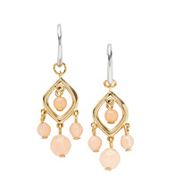 Fossil® Coral & Goldtone Chandelier Earrings