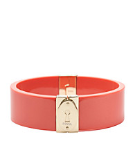 Fossil® Gold & Coral Resin Magnetic Bangle Bracelet