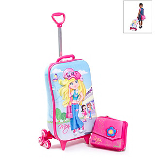 MaxToy Meg Fashion 3D Roller BackPack Set