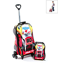 MaxToy Car Super Rally 3D Roller BackPack Set
