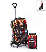 MaxToy Black Fire Patrol 3D Roller BackPack Set