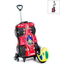 MaxToy Red Formula 1 Car Roller BackPack Set