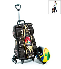 MaxToy Black Formula 1 Car Roller BackPack Set
